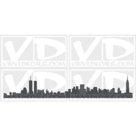 New York Skyline Vinyl Wall Art Decal Sticker