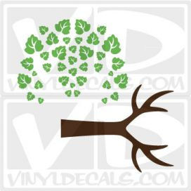 Antler Tree Wall Art Decal Sticker