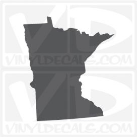 Minnesota State Car Vinyl Decal Sticker