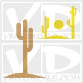 Tall Cactus Wall Art Decal