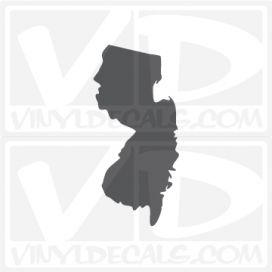 New Jersey State Car Vinyl Decal Sticker