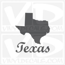 Texas State Car Vinyl Decal Sticker