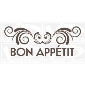 Bon Appétit wall vinyl decal stickers