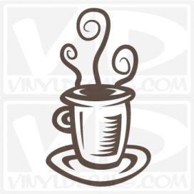 Coffee Cup wall vinyl decal stickers