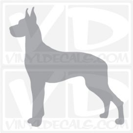 Great Dane Dog Vinyl Decal