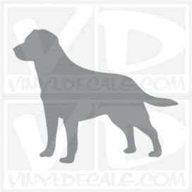 Labrador Retriever Dog Vinyl Decal