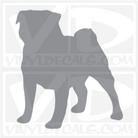 Pug Dog Vinyl Decal