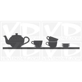 Tea Time Shelf wall vinyl decal stickers