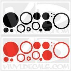 Circles 1 Set of 30 - Wall Art Vinyl Decals