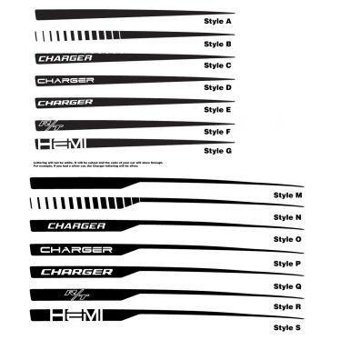 Charger quarter panel stripe options