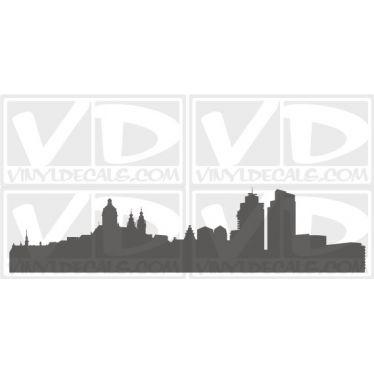 Amsterdam Netherlands Skyline Vinyl Wall Art Decal Sticker