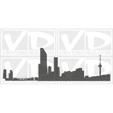 Rotterdam Netherlands Skyline Vinyl Wall Art Decal Sticker